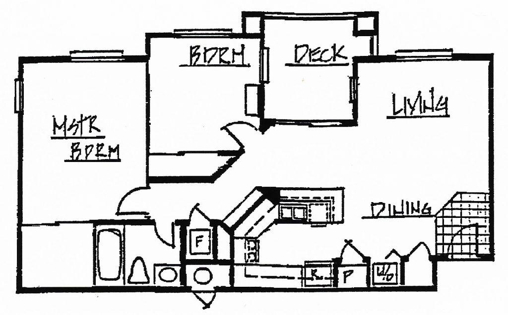 2 Bedroom 1 Bath 861 sq. ft.